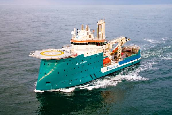 The Acta Centaurus will be fitted with a Wärtsilä hybrid solution for fuel savings and better environmental performance. (Photo: Acta Marine)