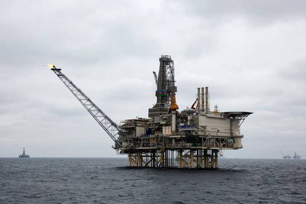 The West Chirag Platform, part of the Chirag Oil Project in the Azerbaijani Caspian Sea - Credit: BP (File Photo)