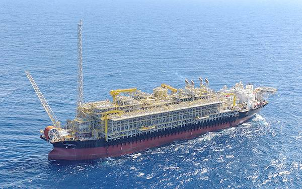 FPSO Cidade de Campos dos Goytacazes is deployed for operations in the Tartaruga Verde and Tartaruga Mestiça fields in the Campos Basin off the coast of Brazil. (Photo: Modec)