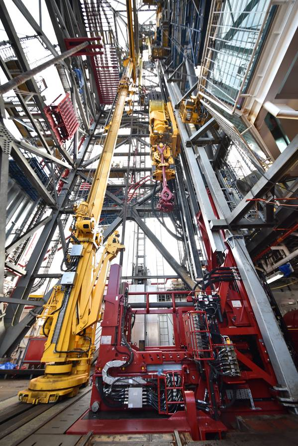 Continuous Tripping Technology installed on the jack-up ENSCO 123 (Photo: Ensco)
