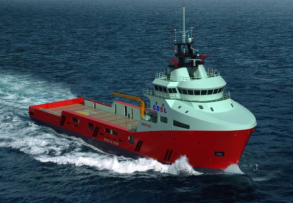 COSL's 12 new LNG fueled offshore support vessels are being constructed at the Wuchang Shipbuilding Heavy Industry yard and the Liaonan Shipyard in China. (Image: COSL)