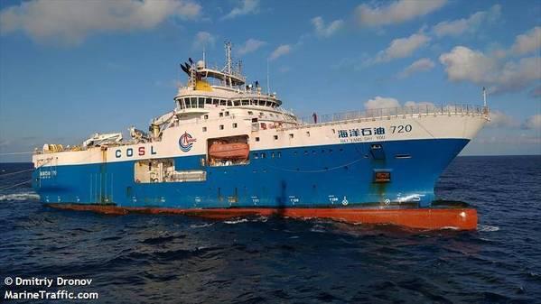 COSL's HYSY 720 vessel - Credit: Dmitriy Dronov/MarineTraffic