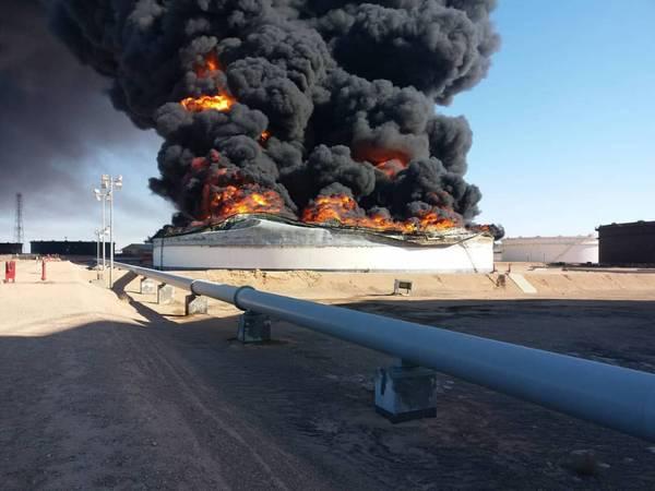 Damage at Ras Lanuf terminal June 18, 2018 (Photo: NOC)