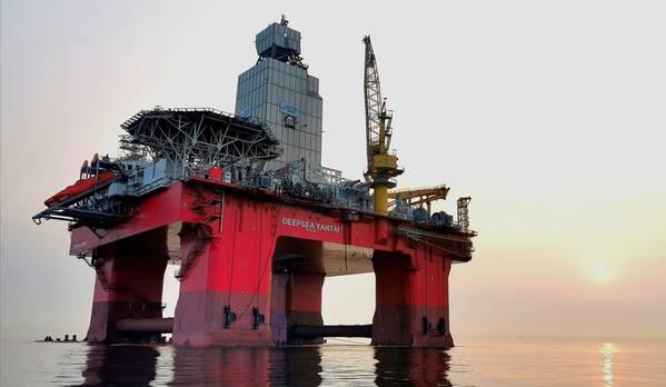 Deepsea Yantai semi-submersible rig - Credit: Neptune Energy