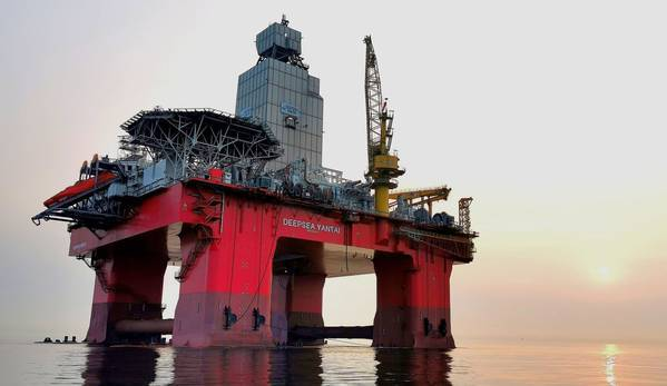 Deepsea Yantai, a new semi-submersible rig - Credit: Odfjell Drilling