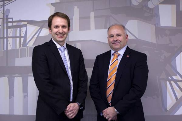 Bogi Vang, Deputy Country Manager UK & Senior Financial Adviser at DNO North Sea and Phil Milton, CEO at Well-Safe Solutions (Photo: Well-Safe)