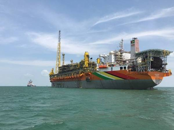Liza Destiny FPSO, the first of what will be several FPSOs producing oil from Guyana's giant Stabroek block - Image Credit: Hess