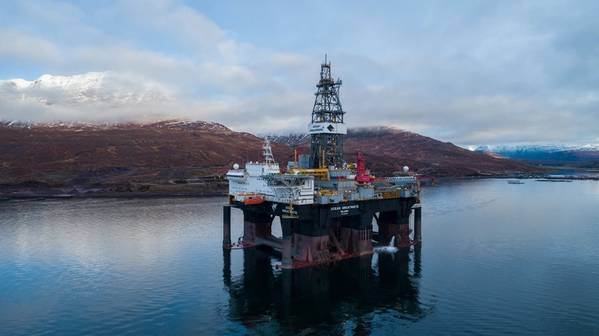 Diamond Ocean GreatWhite semi-submersible drilling rig (Photo: Siccar Point Energy)
