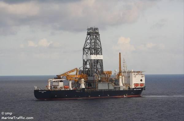 Diamond Offshore's Ocean BlackHornet drillship - Credit: smp/MarineTraffic.com