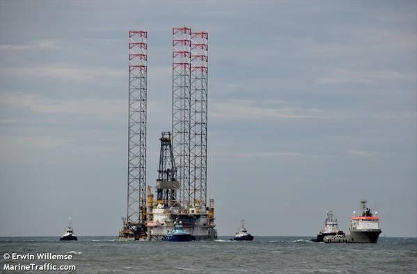 A Borr Drilling Rig - Credit: Erwin Willemse - MarineTraffic
