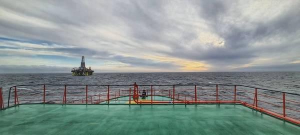 Drilling rig at Leningradskoye field - Credit: Gazprom