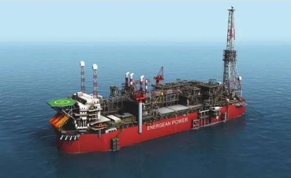 The Energean Power FPSO Illustration - the vessel will be used to develop Energean's gas fields offshore Israel - Credit: Energean