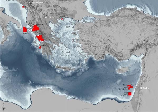 Energean's Mediterranean Sea Acreage - Credit: Energean