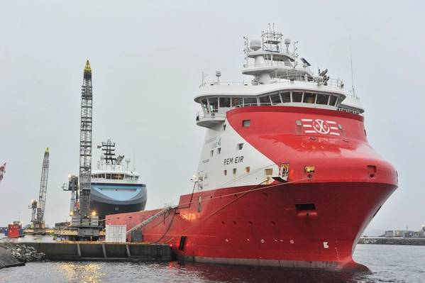 Equinor has 13 supply vessels in its contract portfolio that are ready for shore power supply, including Rem Eir from Remøy Shipping, whose contract with Equinor was recently extended by three years. (Photo: Vidar Hardeland / Equinor ASA)