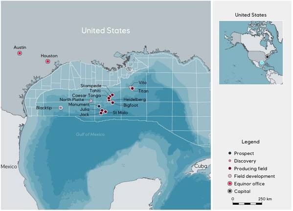 Equinor is Total's partner in the North Platte project (Map by Equinor)