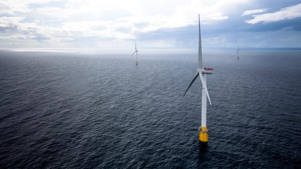 Equinor's Hywind Scotland became the world's first floating wind farm in 2017. Øyvind Gravås/Woldcam via Equinor