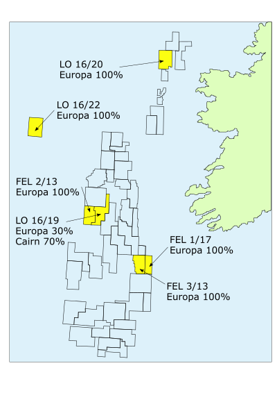 Europa Oil & Gas' offshore blocks in Ireland - Image by Eurioa Oil and Gas