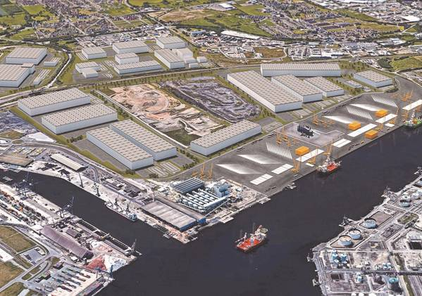 How finished wind blade manufacturing site will look - Credit: Teesworks