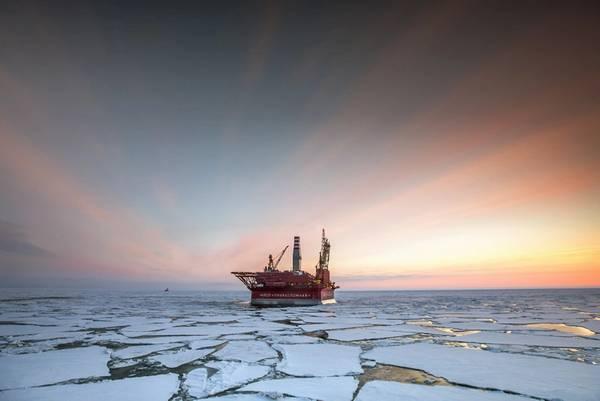Gazprom's Prirazlomnaya platform at the Prirazlomnoye field - Credit: Gazprom Neft