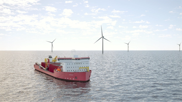 Great Lakes Dredge & Dock Corporation's planned subsea rock installation vessel could be operational and available to the U.S. offshore wind market as early as 2024. (Image: Great Lakes Dredge & Dock Corporation)