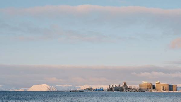 The Hammerfest LNG plant at Melkøya. (Photo: Ole Jørgen Bratland)