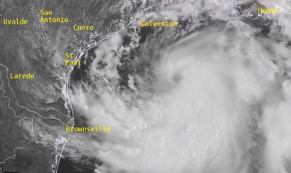Hanna is the eight named storm of the 2020 Atlantic hurricane season (Image: NOAA)