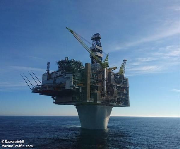 Hebron platform - Credit: ExxonMobil/MarineTraffic.com