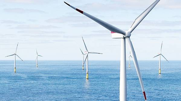 Hornsea Project Three offshore wind farm. Photo: Ørsted