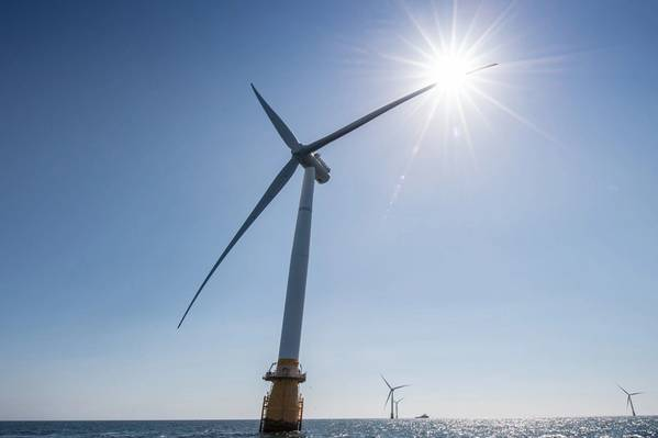 The Hywind Scotland floating wind farm. (Photo: Michal Wachucik/Abermedia - Equinor ASA)