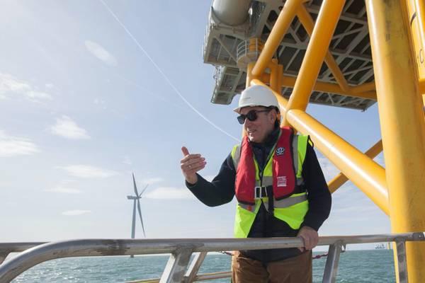 Iberdrola chairman, Ignacio Galán, at one of the company's wind farms.