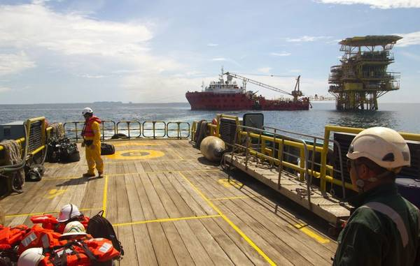Illustraiton only - Offshore platform in South China Sea - Credit: corlaffra/AdobeStock