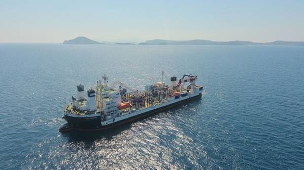 Illustration only - Cable Enterprise cable laying vessel. File Photo. Credit: Prysmian