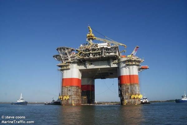 Illustration: A Chevron platform in the U.S. Gulf of Mexico / Credit:steve coons/MarineTraffic.com