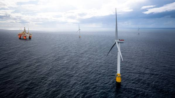 Illustration; Equinor's Hywind Tampen project in Norway - Credit: Equinor (File Image)