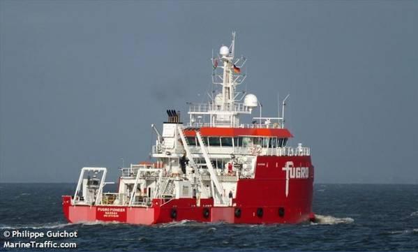 Illustration: Fugro Pioneer vessel - Image by Philippe Guichot - MarineTraffic
