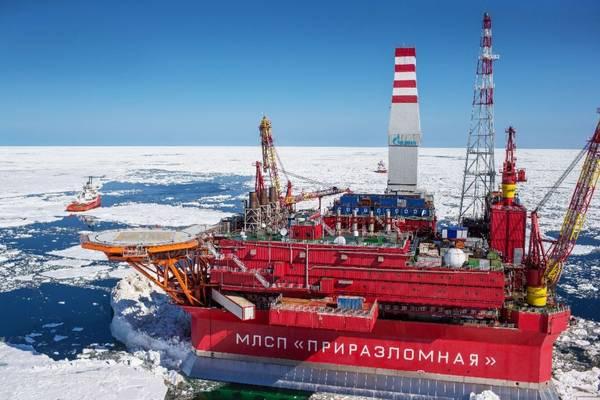 For illustration only - A Gazprom offshore platform - Image Credit: Gazprom