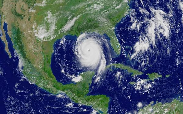 Illustration - A hurricane in the Gulf of Mexico - Credit:zenobillis/AdobeStock