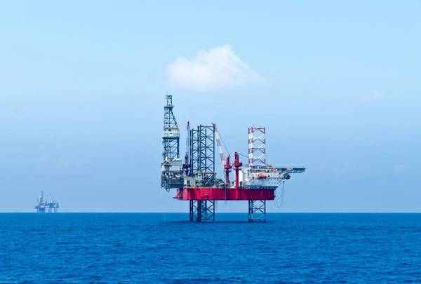 Illustration; A jack-up rig in the Mediterranean - Image by   look_67 - AdobeStock