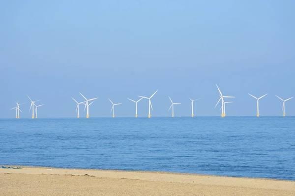Illustration; Offshore wind farm - Credit:pauws99/AdobeStock