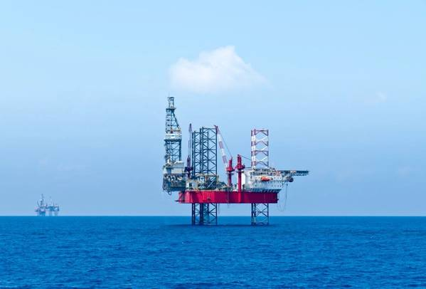 Illustration; An offshore drilling rig in the Mediterranean Sea, off Egypt - Image by look_67 - AdobeStock