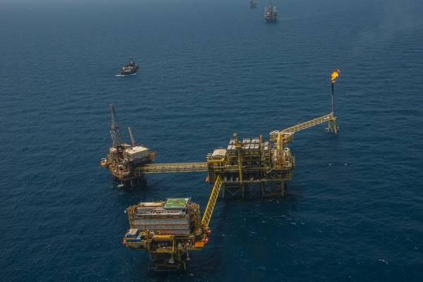Illustration - An offshore platform complex in Mexico - Credit.Quimey/AdobeStock