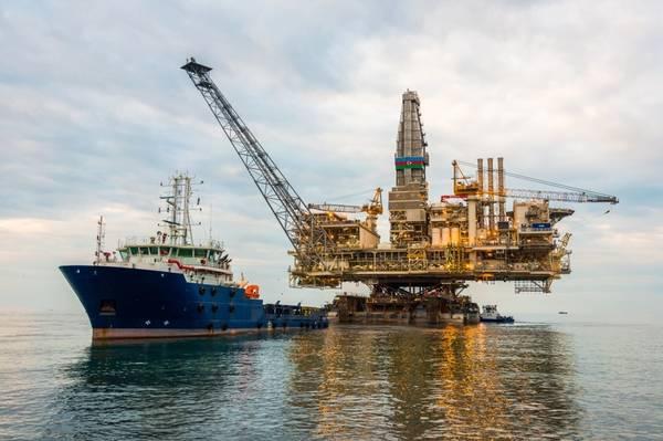 Illustration only - An offshore platform topside in Azerbaijan - Credit: Elnur/AdobeStock