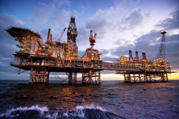 Illustration only: A BP Platform in the Caspian Sea - Image Credit: BP