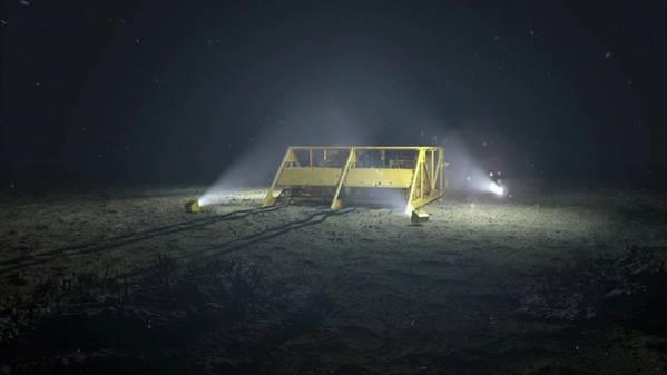 Illustration of Åsgard subsea gas compression - Credit: Equinor