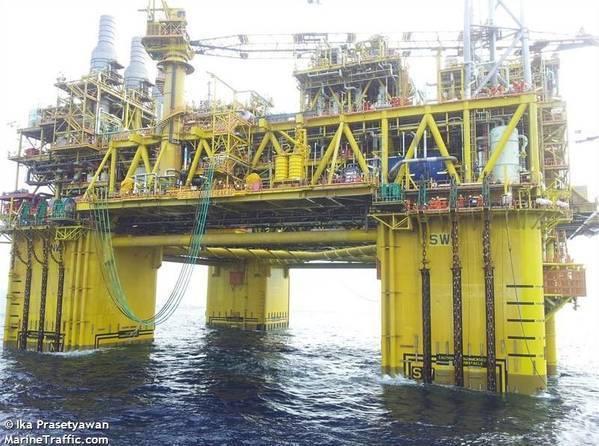 Illustration - Shell's Gumusut Kakap Platform in Malaysia - Credit: Ika Prasetyawan/MarineTraffic.com