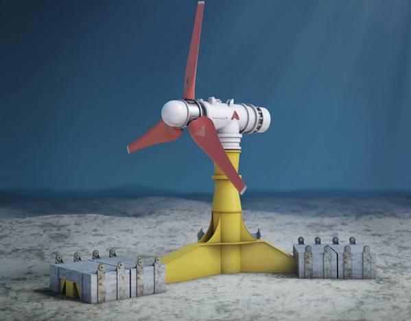 Illustration; A SIMEC Atlantis Tidal Power Turbine - Credit: SIMEC Atlantis
