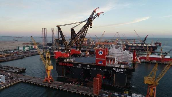 For illustration; Sleipnir, the world's largest and strongest semi-submersible crane vessel built by Sembcorp Marine - Credit- Sembmarine