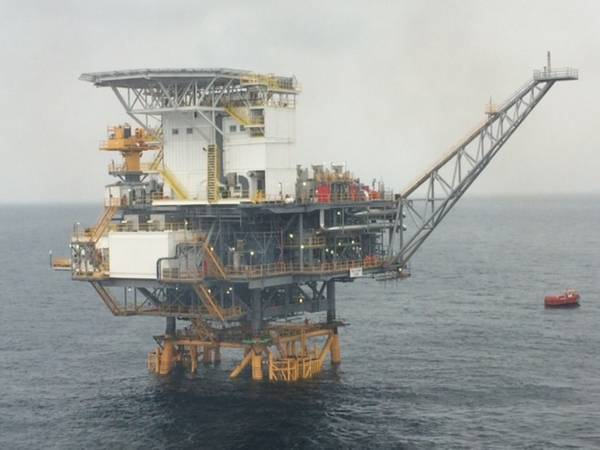 Illustration: A Vaalco offshore Platform - Photo: Vaalco