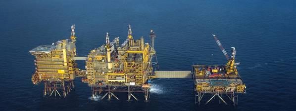 The image of Central Morecambe Platform -Courtesy of Spirit Energy.