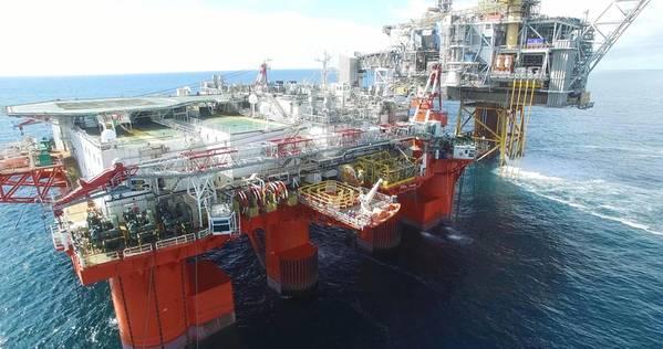 File Image: A photo taken during an offshore DNV GL Drone-enabled survey (CREDIT: DNV GL)